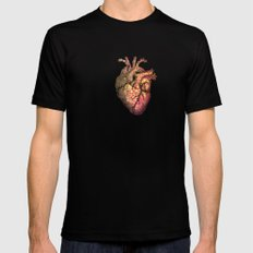 Anatomical heART MEDIUM Mens Fitted Tee Black