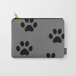 Grey Pawprints Carry-All Pouch