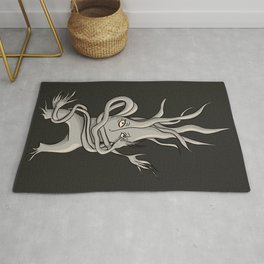 Creepy Tree Creature With Tangled Branches Rug