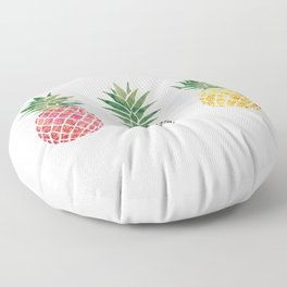 fun pineapple design Floor Pillow