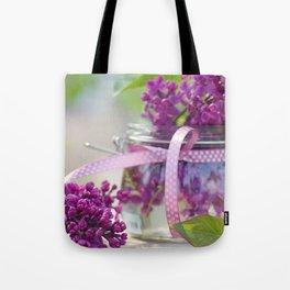 Lilac Spring Still life Tote Bag