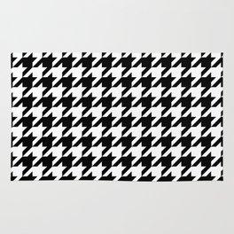 Black Houndstooth - Baby Stimulation Pattern Rug