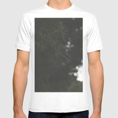 Pine Tree On The Mountain MEDIUM Mens Fitted Tee White