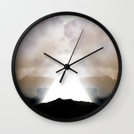 Abstract Landscape 02: New Beginnings Wall Clock