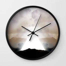 Abstract Landscape 02: New Beginnings Wall Clock