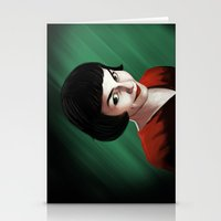 amelie Stationery Cards featuring Amelie by Jon Cain