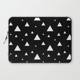 Black with White Triangles Laptop Sleeve
