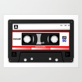 Retro audio cassete Art Print