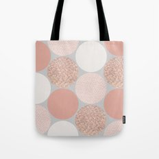Rose Gold Dots Tote Bag