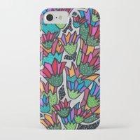 leah flores iPhone & iPod Cases featuring Flores by Carolina Delleteze