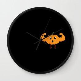 Pumpkin: Sports Runner Triathlete design & Gift Wall Clock