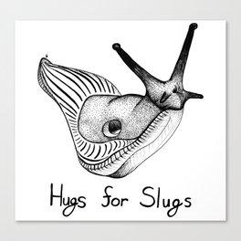 Hugs for Slugs Canvas Print