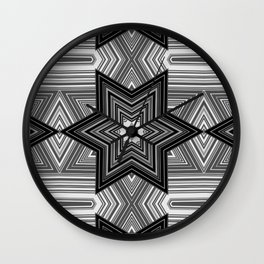 Black and white abstract pattern. Graphics. Wall Clock