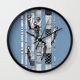 Woodpeckers Wall Clock
