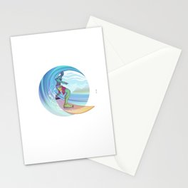 Zombie Surf Stationery Cards