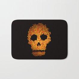 Candy Corn Skull Bath Mat