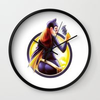 batgirl Wall Clocks featuring Batgirl by kcspaghetti