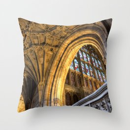Golden Arch Throw Pillow