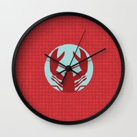 lobster Wall Clocks featuring Lobster by Mr and Mrs Quirynen