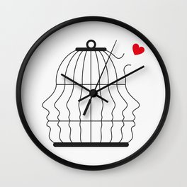 Free the Love Wall Clock
