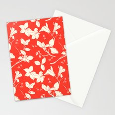 Drawings from Stonecrop Garden, Pattern in Red Stationery Cards