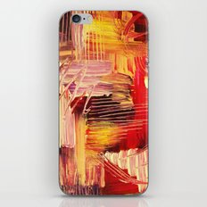 RHAPSODY IN MAGENTA- Beautiful BOLD Modern Abstract Wild Acrylic Painting Crimson Hot Pink Purple iPhone & iPod Skin