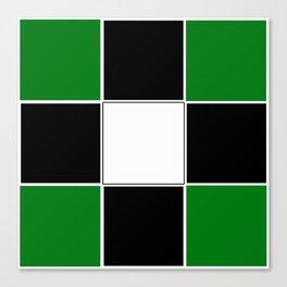 TEAM COLORS 3 ...GREEN,BLACK Canvas Print