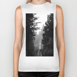 misty capilano suspension bridge Biker Tank