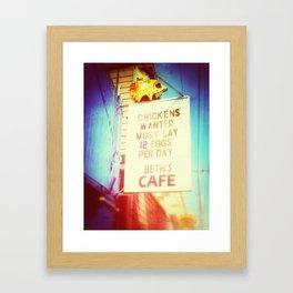 Beth's Cafe Framed Art Print