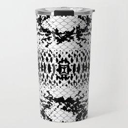 Black and white snake Skin for home decoration Travel Mug