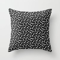 infamous Throw Pillows featuring Stormbringer  (not the infamous black sword) by Department of Control