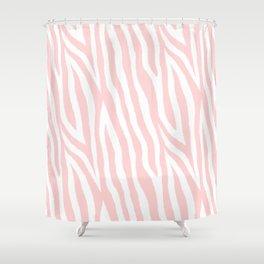 Pale pink zebra fur pattern 04 Shower Curtain