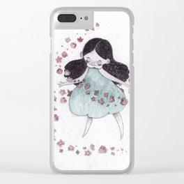 Flower hurricane Clear iPhone Case