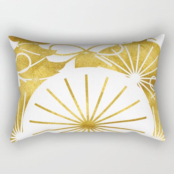 Gold Christmas 01 Rectangular Pillow