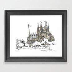 Sagrada Familia, Barcelona Framed Art Print