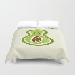Smiling Avocado Food Duvet Cover