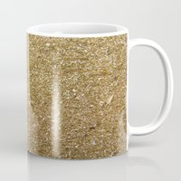 rose gold Mugs featuring Gold by Rose Wierts