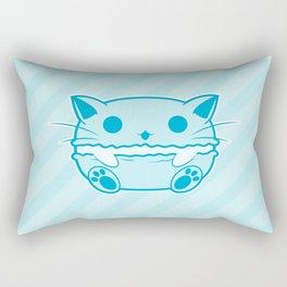 Blue Kawaii Cat Macaroon Rectangular Pillow