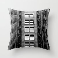 building Throw Pillows featuring Building by Conor O'Mara