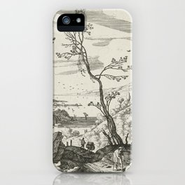 Landscape With Judah And Tamar Willem van Nieulandt II iPhone Case
