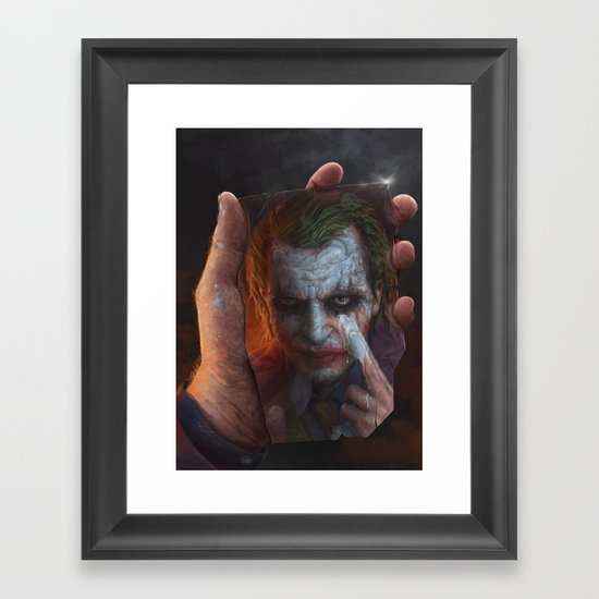 The Joke Framed Art Print