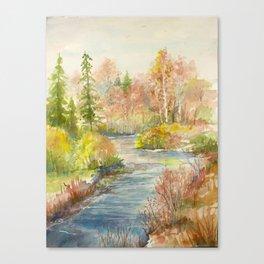 Calm Creek Canvas Print