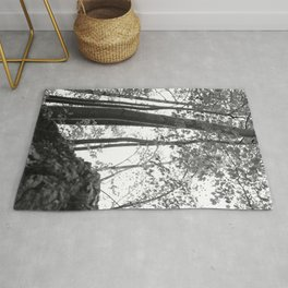 Forest, black and white Rug