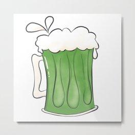 Saint Patties Day Beer Metal Print