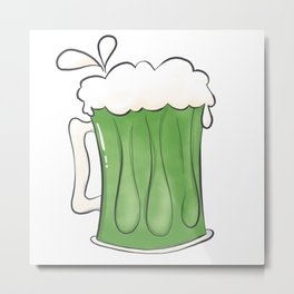 Saint Patties Day Beer Metal Print