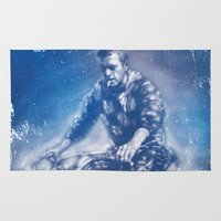 steve mcqueen Area & Throw Rugs featuring McQueen by Scott Dickson
