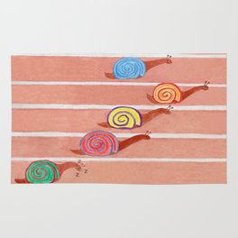 A Day at the Snail Races Rug