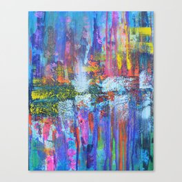 REFLECTIVE METROPOLIS - abstract expressionism prophetic art painting Canvas Print