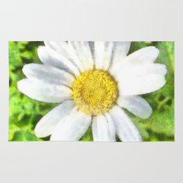 Radiant Daisy Watercolor Rug