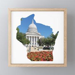 Beautiful Capitol Building in Wisconsin Framed Mini Art Print